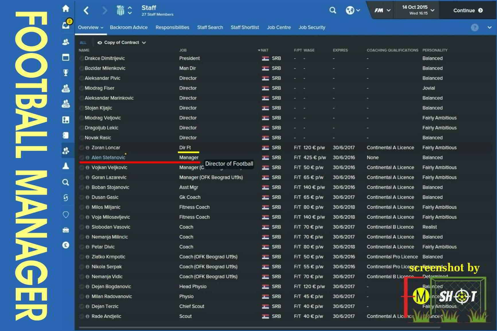 FM Director of Football