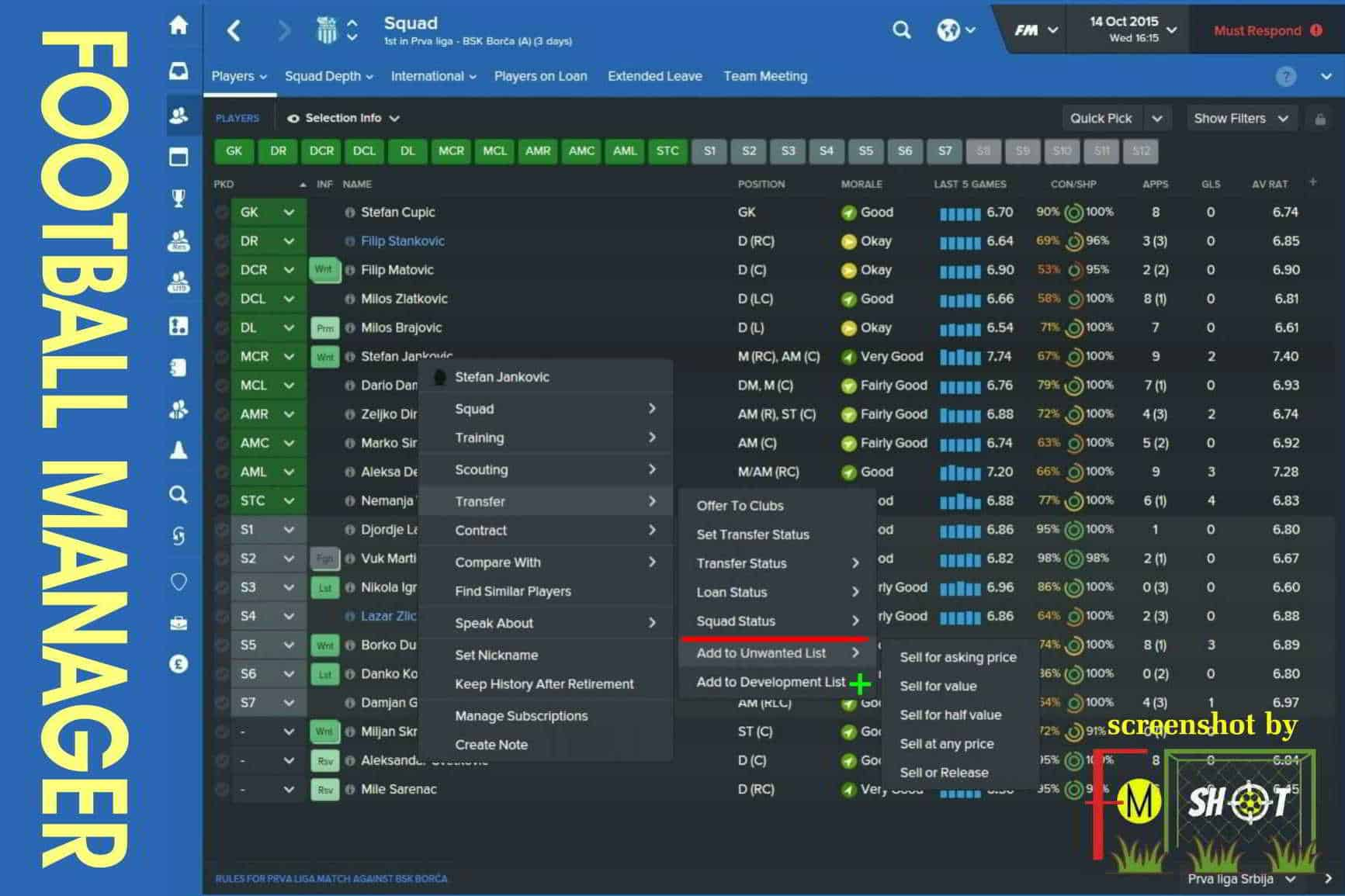 FM Option Add to List