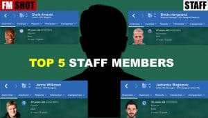 Top 5 Staff Members in My Club