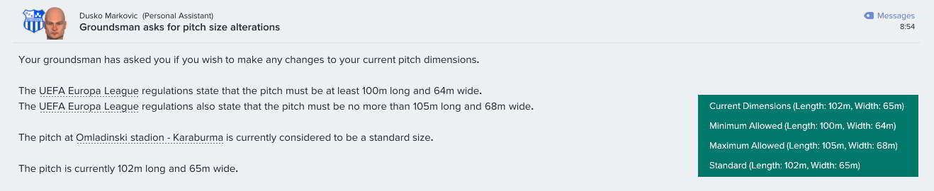 Pitch Dimensions