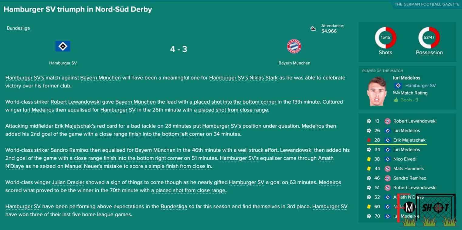 HSV vs Bayern Munchen