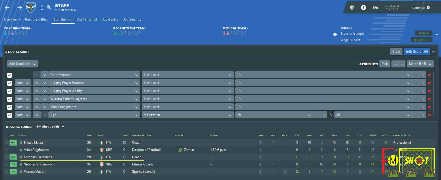 Under 20s Manager