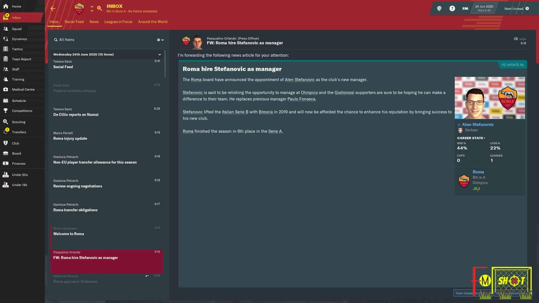 Roma New Boss