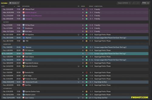 Fixtures List